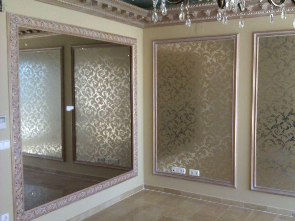 Molduras para paredes trendy fabulous madera para pared - Molduras de madera para pared ...